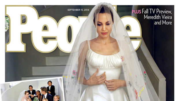 Brangelina Beauty! Angelina Jolie Reveals Wedding Gown