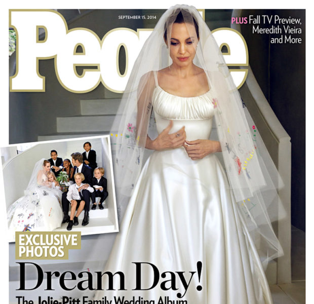 Brangelina Beauty! Angelina Jolie Reveals Wedding Gown