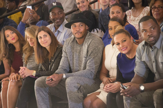 carmelo anthony-lala-angie martinez-CELEB KIDS ROCK THE STAGE AT SECOND ANNUAL 'KIDS ROCK!' FASHION SHOW nyfw 2014-the jasmine brand