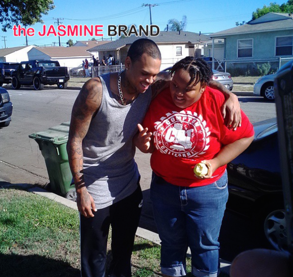 chris brown-meets a fan in compton-the jasmine brand