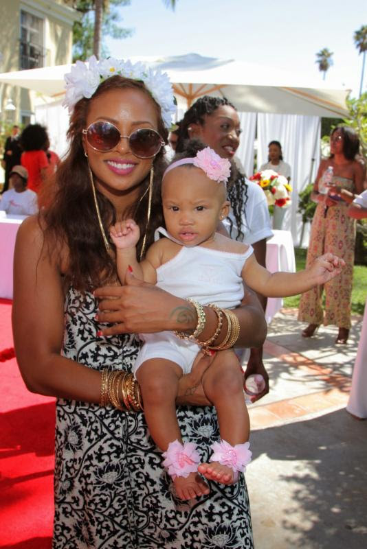 eva marcille and daughter-Robi Reed's 12th Annual Sunshine Beyond Summer Celebration-the jasmine brand