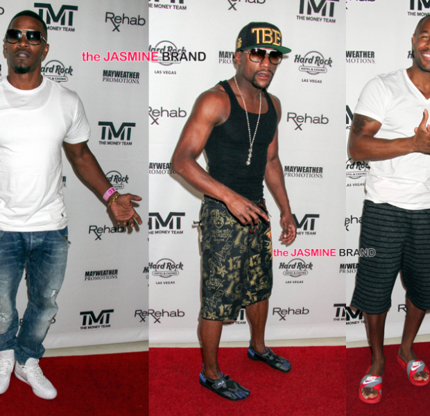 Floyd Mayweather Hosts Pool Party: Jamie Foxx, 2 Chainz, Tank, Fabolous Attend