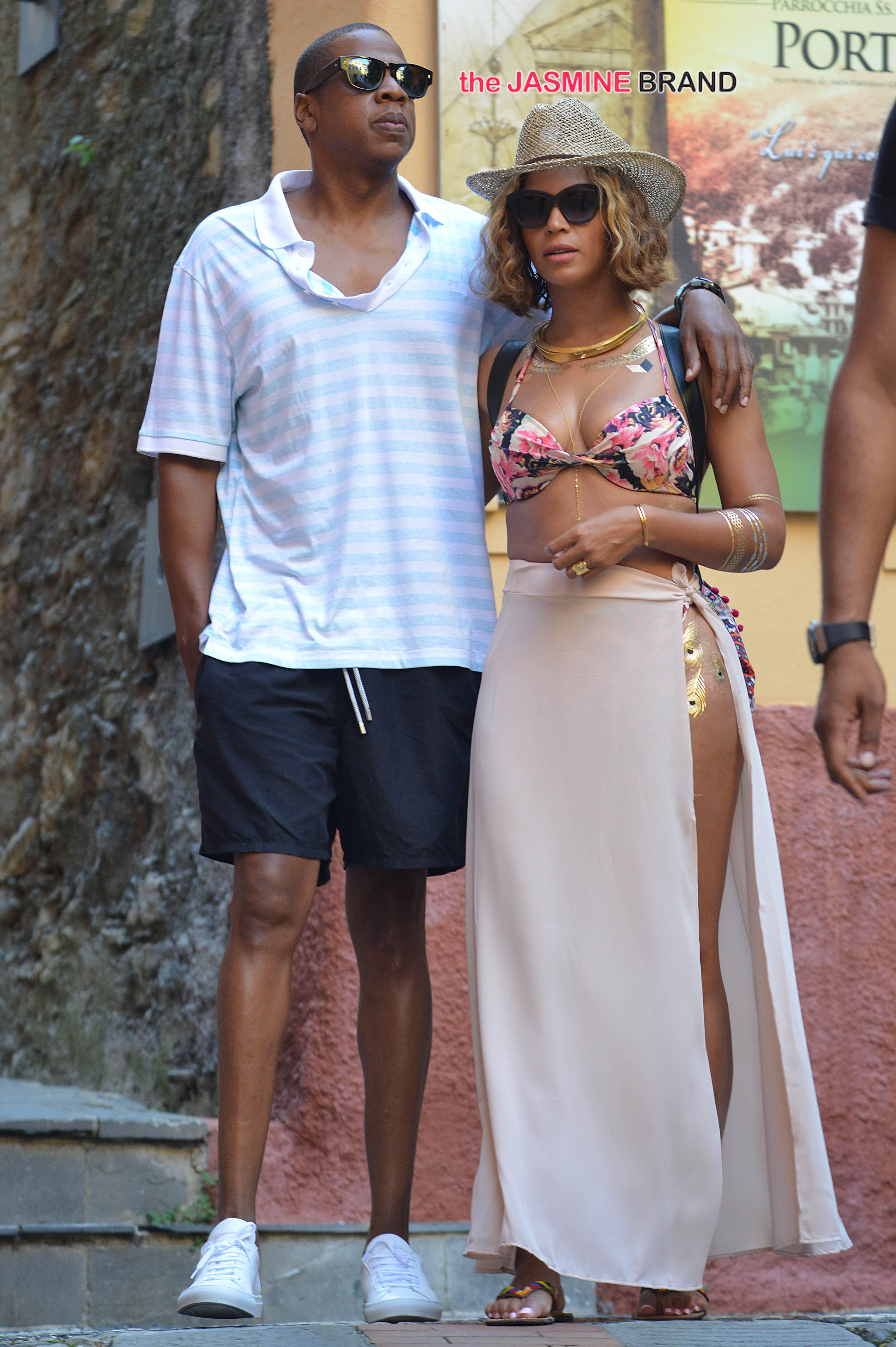Beyonce and Jay Z on holiday in Portofino, Italy