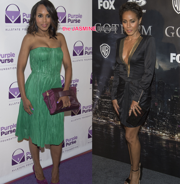 Celebrity Fashion: Kerry Washington Goes 'Alexander McQueen' For 'Purple Purse' + Jada Pinkett-Smith Wears Blumarine For 'Gotham' Premiere