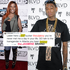 kmichelle and soulja boy-twitter beef-the jasmine brand