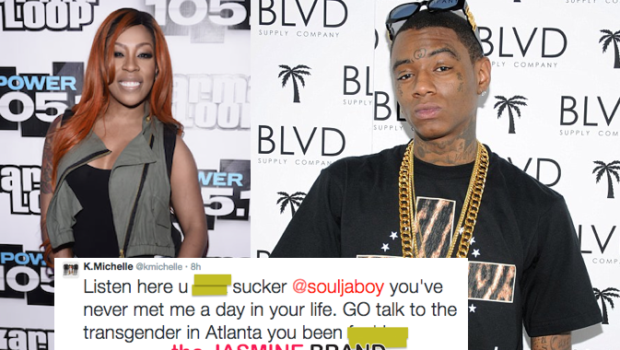 K.Michelle & Soulja Boy Argue Over Transgender Rumors, Fake Money & Smelly Hot Pockets