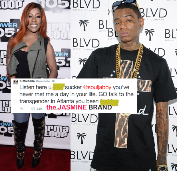 K.Michelle & Soulja Boy Argue Over Transgender Rumors, Fake Money & Smelly Hot Pockets