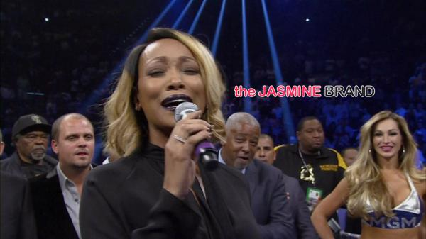 [VIDEO] Monica Performs National Anthem At Floyd Mayweather vs Marcos Maidana Fight