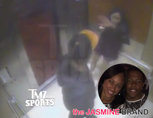 new footage-ray rice hits then fiancee janay palmer-footage-the jasmine brand
