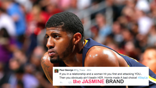 NBA Baller Paul George Says Sorry For Defending Ray Rice: I didn't mean to downplay the situation.
