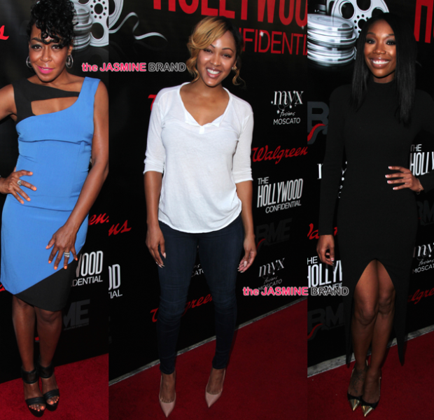 Meagan Good, Brandy & Tichina Arnold Host 'The Hollywood Confidential'