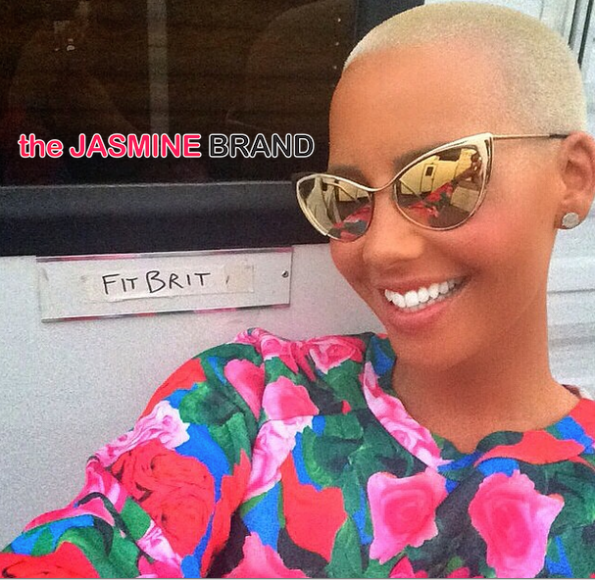 Amber Rose on set-Selfie sitcom-Fit Brit-the jasmine brand