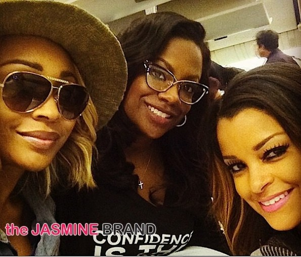 Atlanta Housewives Cast Trip-Cynthia Bailey-Kenya Moore-Kandi Burruss-Claudia Jordan-the jasmine brand