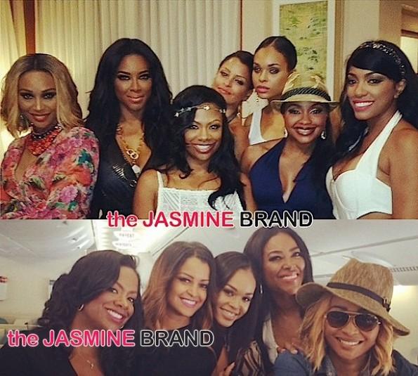 Atlanta Housewives Cast Trip-Cynthia Bailey-Kenya Moore-Kandi Burruss-Phaedra Parks-Claudia Jordan-Porsha Williams-Demetria McKinney-the jasmine brand