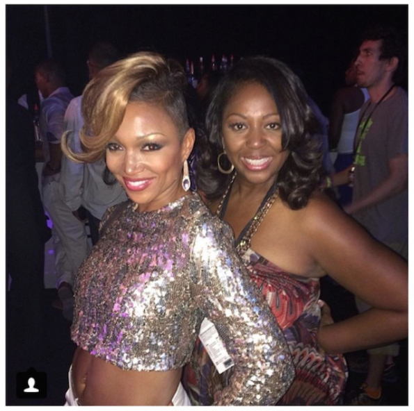 Chante Moore and manager-the jasmine brand
