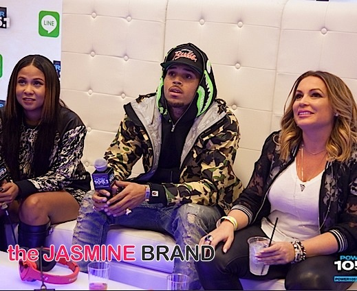 Angela Yee, Chris Brown, Angie Martinez