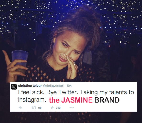 Chrissy Teigen-Quits Twitter After Death Threats-the jasmine brand