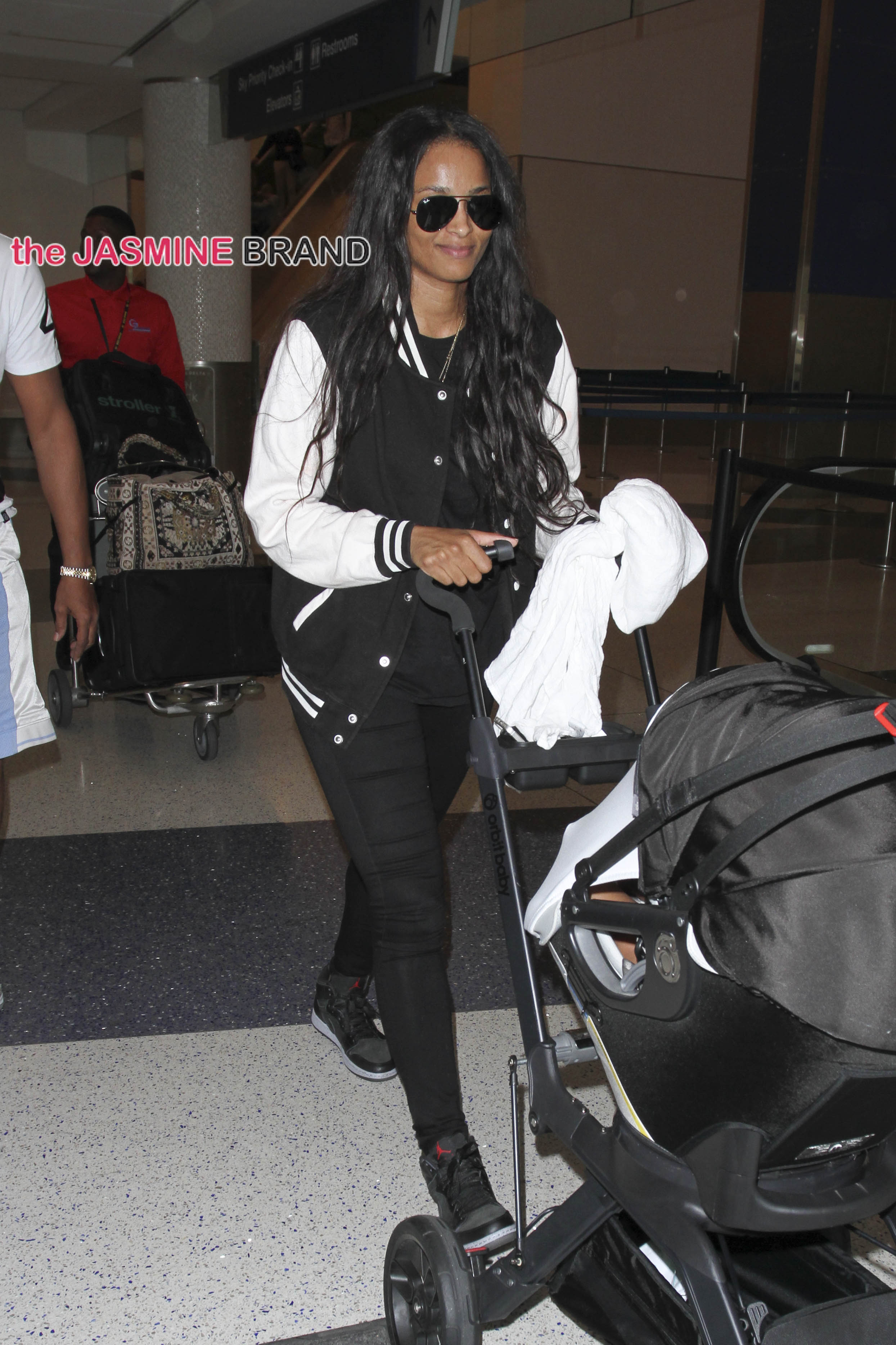 Ciara spotted arriving at LAX Airport coming from Atlanta with her baby boy Future Zahir Wilburn