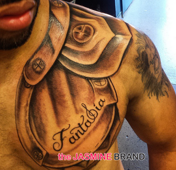 Fantasia Boyfriend Rumored Husband-Kendall Taylor-Gets Her Name Tatted On Him-the jasmine brand