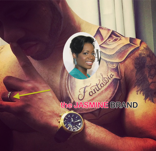 Fantasia-Rumored Husband Kendall-Gets Name Tatted On Him-the jasmine brand