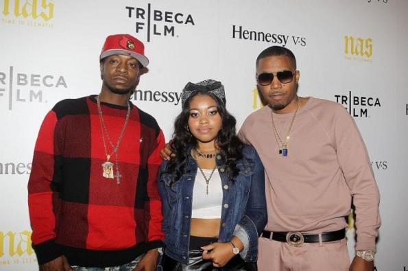Jungle Jones-Destiny-Nas-New York Premiere of NAS- TIME IS ILLMATIC-the jasmine brand