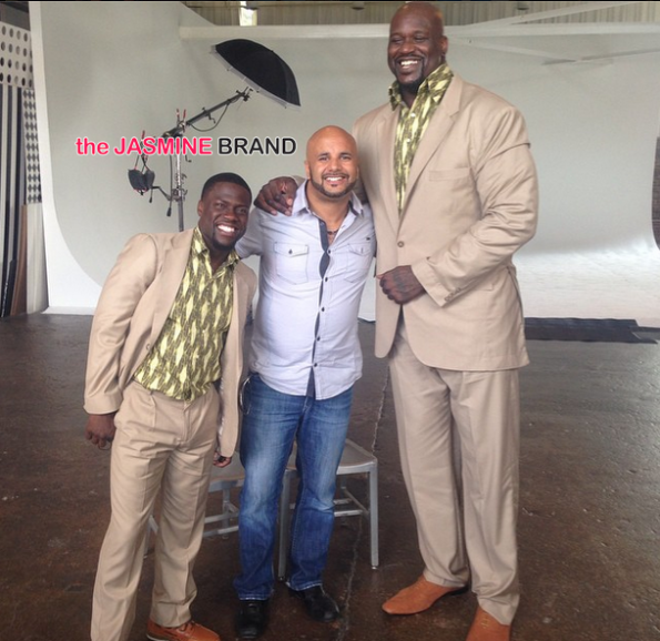 Kevin Hart and Shaq-shoot Twins for People-the jasmine brand
