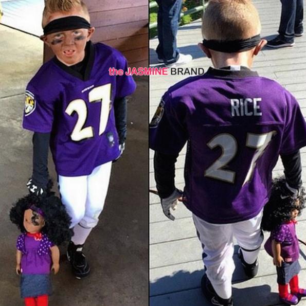 Kid Wears Ray Rice Halloween Custome-the jasmine brand