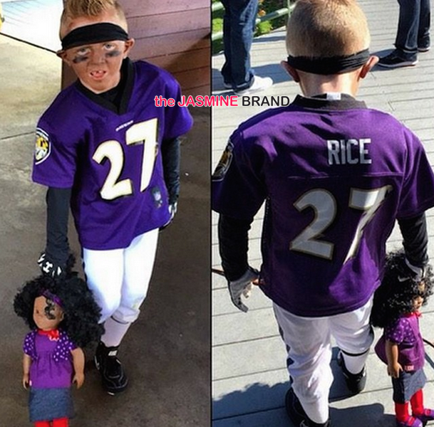 Funny or Nah? Kid Wears Ray Rice Costume, Imitating Domestic Violence Controversy