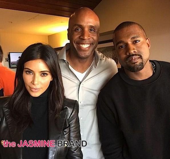 Kim Kardashian-Kanye West-Barry Bonds-world series-the jasmine brand