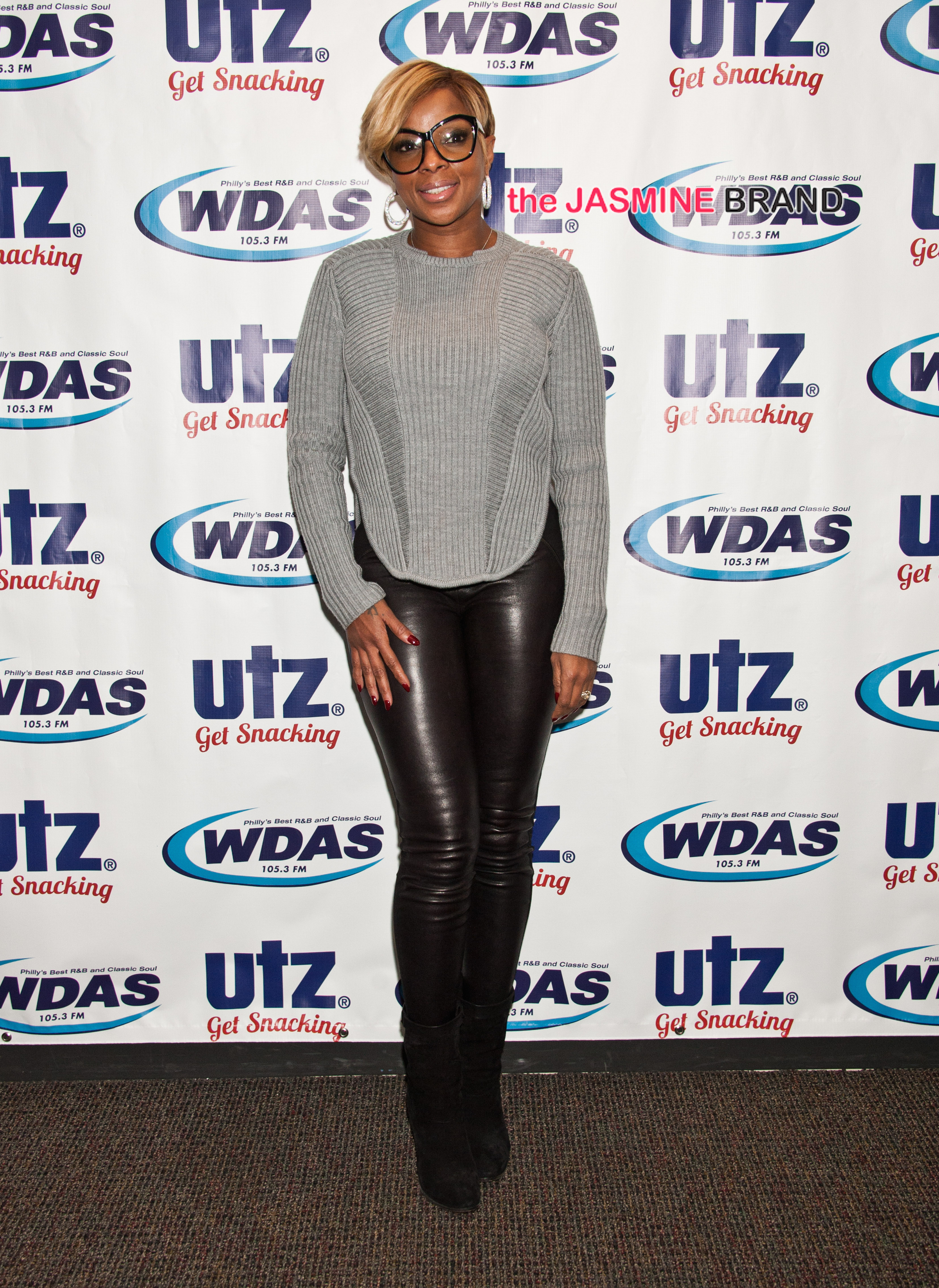 Mary Lambert and Mary J. Blige Visit Mix 106's, WDAS's and Power 99's Performance Theatre in Bala Cynwyd - October 22, 2014