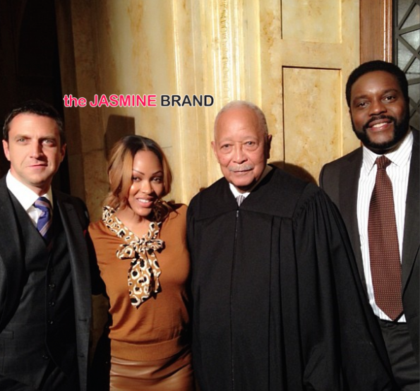 Meagan Good on set SVU-the jasmine brand