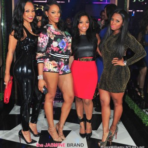 Monyetta Shaw-Malaysia Pargo-Keshia Knight Pulliam-Party ATL Gold Room-the jasmine brand