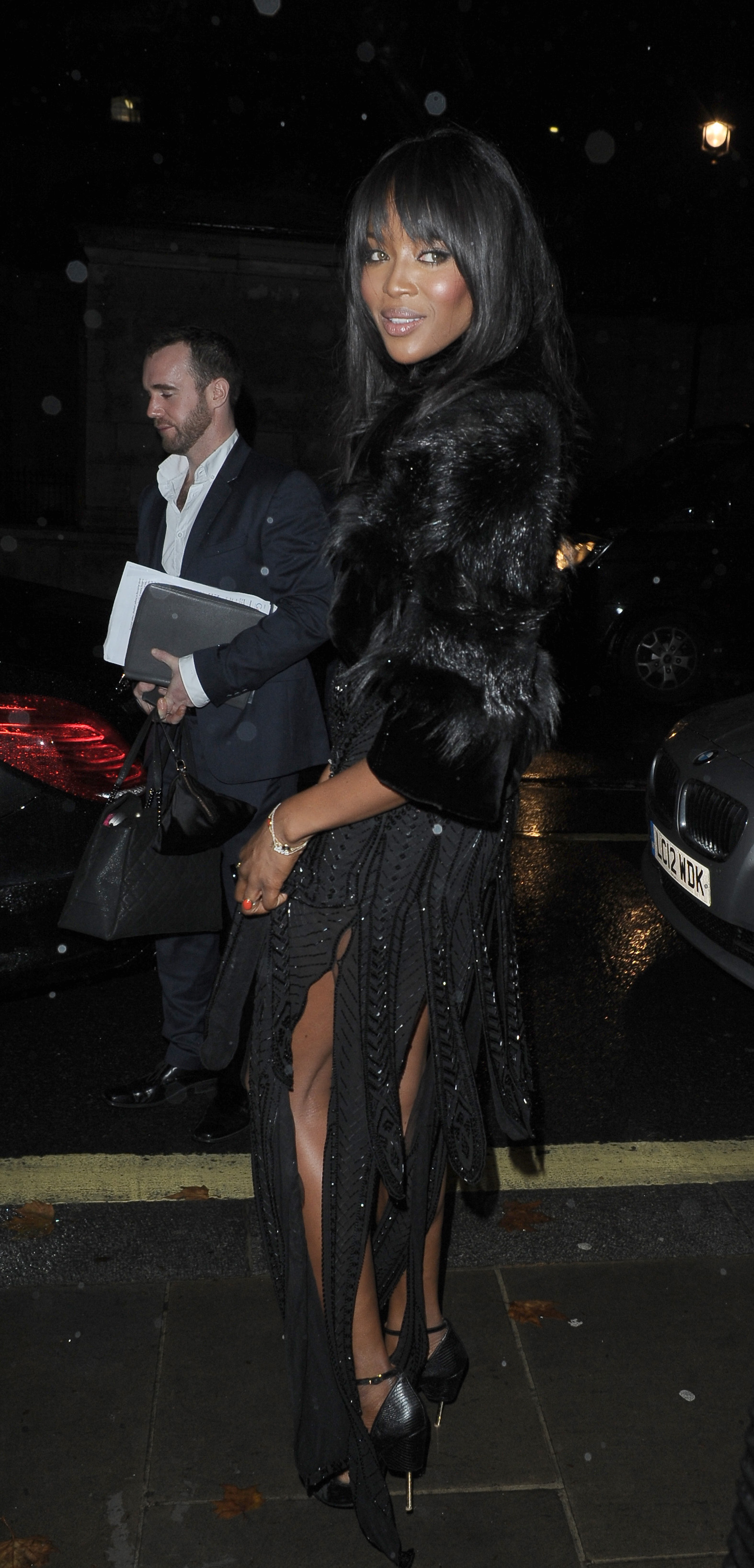 Naomi Cambell  pictured leaving the Attitude Awards at Banqueting House