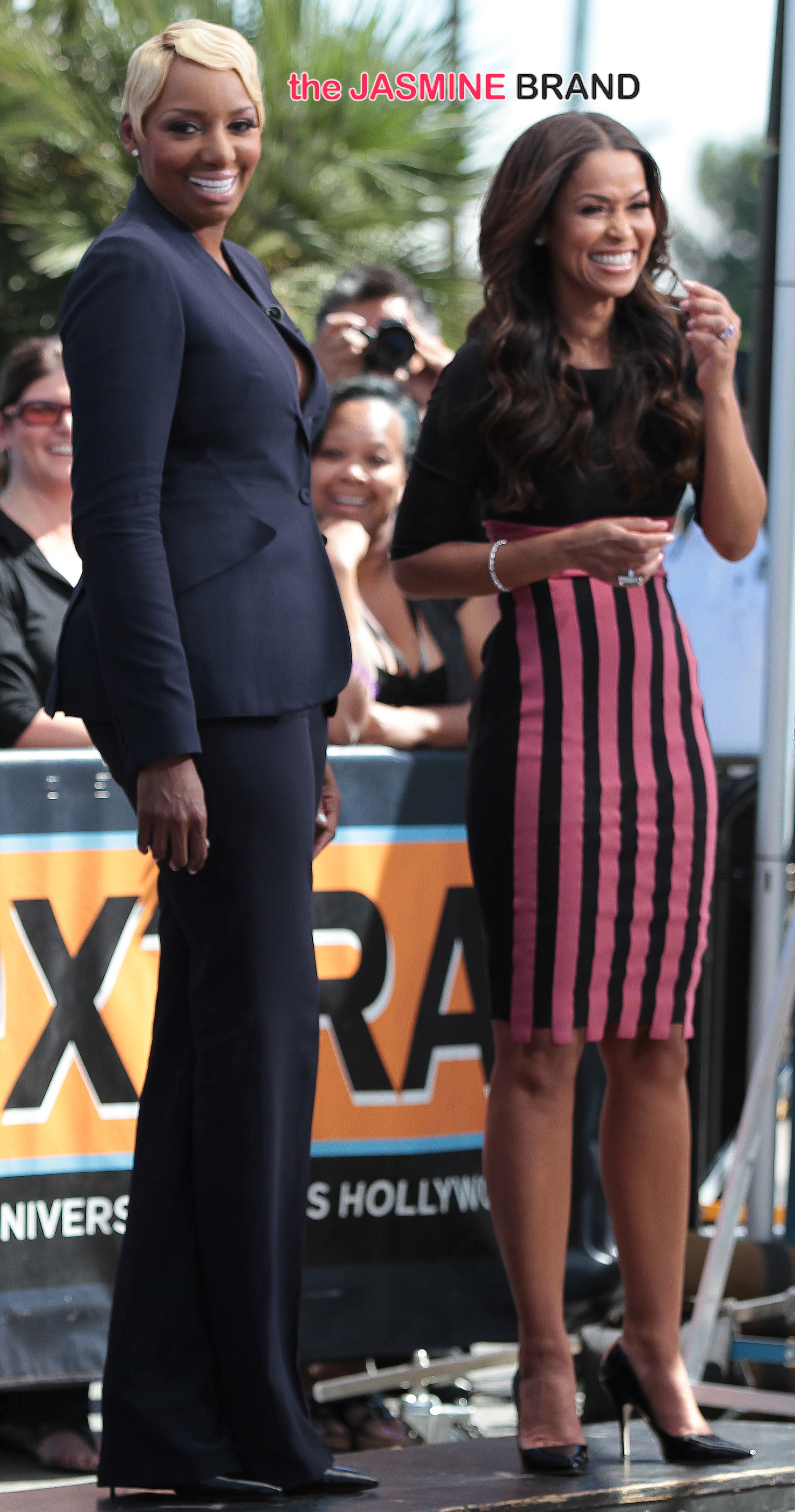 'Real Housewives of Atlanta star', NeNe Leakes, pays a visit to the set of 'Extra' and chats with Tracey Edmonds at Universal Studios in Universal City, CA