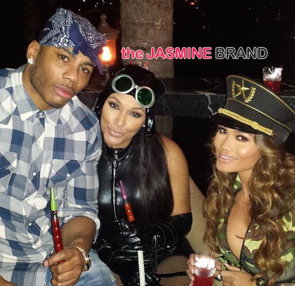 Nelly-Shantel Jackson-Daphne Joy-Amber Rose Halloween Birthday Party-the jasmine brand
