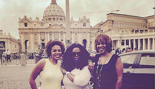 [Photos] Oprah & BFF Gayle King Play Tourist In Rome