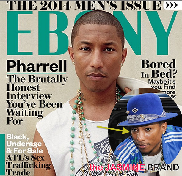 Pharrell Covers EBONY + Producer Wears New Trend, Men's Eye Liner