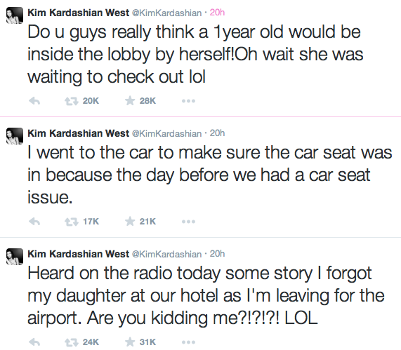Kim Kardashian-Car Seat Tweets-2014-The Jasmine Brand