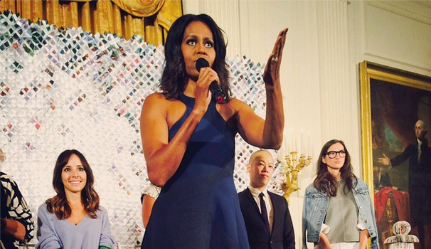 First Lady Michelle Obama Opens White House to Students for Fashion Workshop + Anna Wintour, Jason Wu, Naomi Campbell Lend Expertise