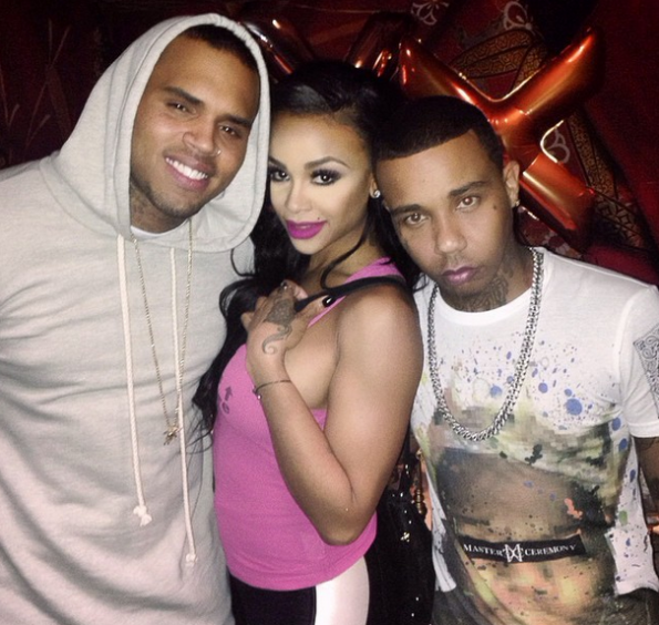 Masika with Chris Brown and Yung Berg