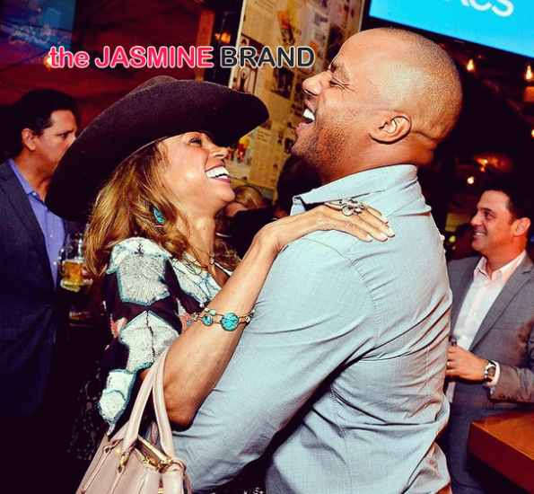 Stacey Dash and Donald Faison share a moment-the jasmine brand