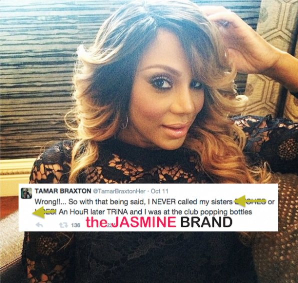 Tamar Braxton-Denies Fallout-Calling Sisters Hoes-Braxton Family Values-the jasmine brand