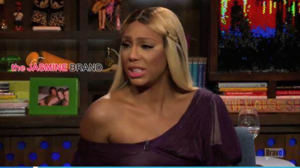 Tamar Braxton-Throws Shade at RHOA Kenya Moore-Watch What Happens Live-the jasmine brand