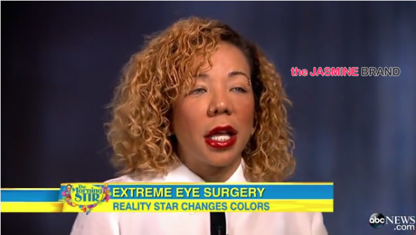 Tameka Tiny Harris-Defends Controversial Eye-Coloring Surgery on Good Morning America-the jasmine brand