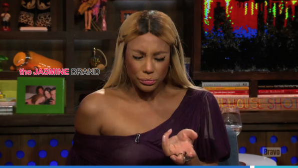 The Reals-Tamar Braxton-Throws Shade at Kenya Moore-Watch What Happens Live-the jasmine brand