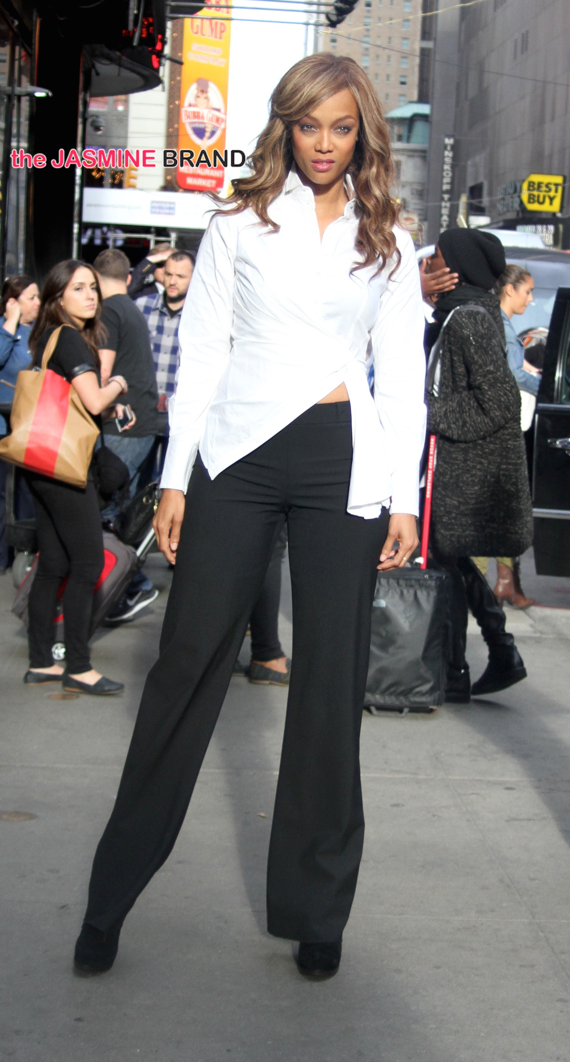 Tyra Banks at the 'Good Morning America' show in NYC