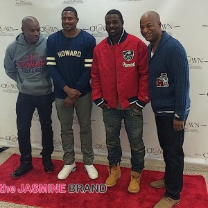 Tyson Beckford-Lance Gross-celebrities-howard homecoming 2014-the jasmine brand