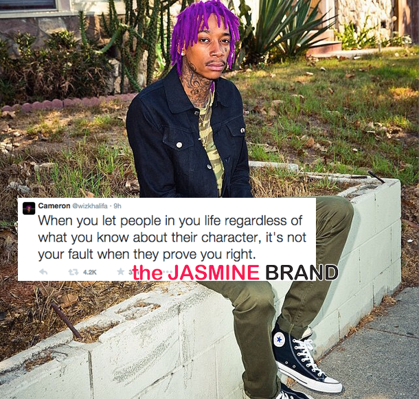Wiz Khalifa Tweets Cryptic Message About Fake Friends & Letting Go