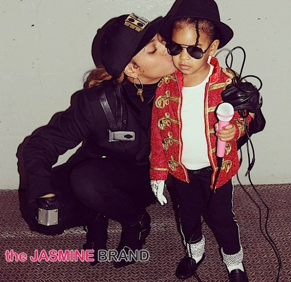 beyonce as janet jackson-blue ivy as michael jackson-halloween 2014-the jasmine brand