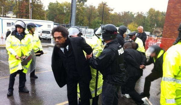[Photos] Cornel West Arrested During Ferguson Protest